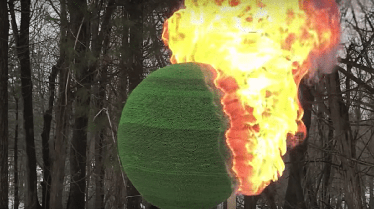 This Guy Made a Ball of 42,000 Matches (and Then Lit It on Fire)