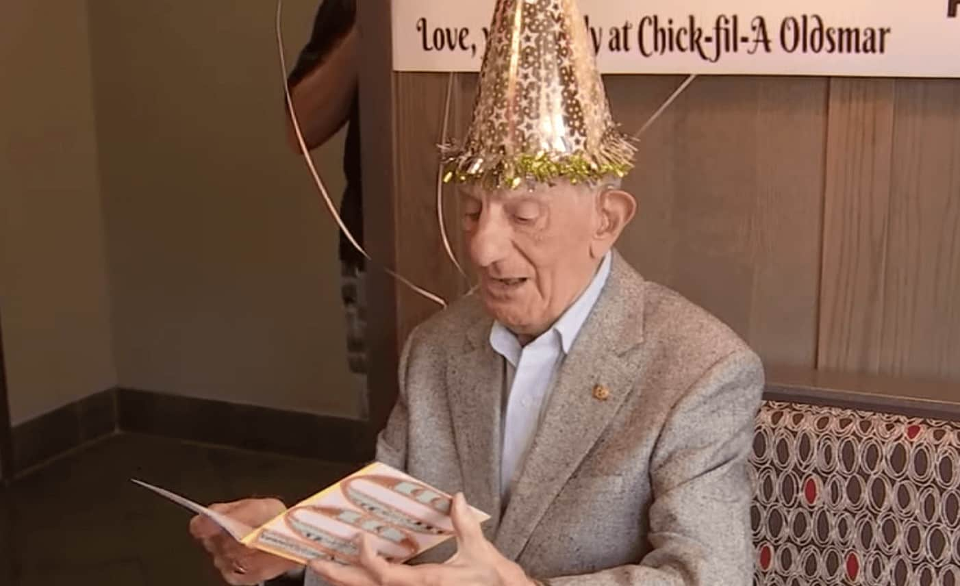 Chick Fil A Gives Customer Free Meals For Life On His 100th Birthday