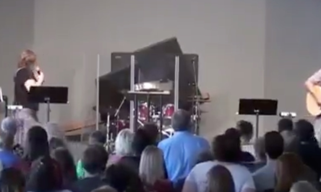 Um, Is This Church Drummer OK After This Crazy Worship Mishap?